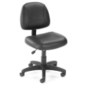 Armless Bonded Leather Task Chair, 50654