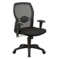 Mesh Back Executive Chair with Fabric Seat, 50659