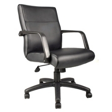 Mid-Back Bonded Leather Conference Chair, 50724