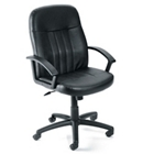 Leather Mid-Back Chair, 56713