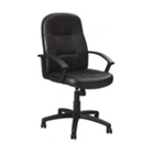 Bonded Leather Mid-Back Conference Chair, 52353