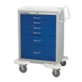 6 Drawer Anesthesia Cart with Key Lock, 25571
