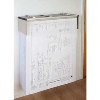 Drop Lift Wall Blueprint Rack, 70223