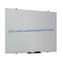 4' x 4' Matte Glass Marker Board, 80311