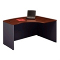 Bow Front Right L-Desk Shell, 13136
