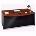 "Bowfront Desk Shell - 71""W, 13143"