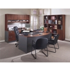 Complete Office Group U-Desk with Left Bridge, 86154