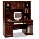 Harvest Cherry Credenza with Hutch, CD07582