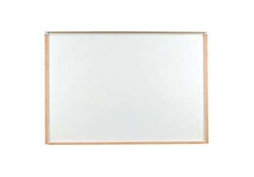 5' x 4' Porcelain White Board with Wood Frame, 80465