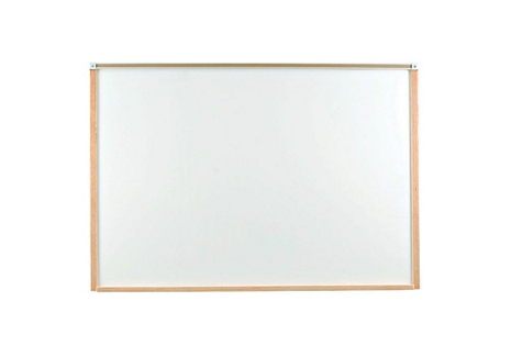 4' x 3' Porcelain White Board with Wood Frame, 80463