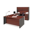 U-Shaped Desk with Hutch, 13488