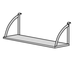"Open Hanging Steel Shelf - 36""W, 21318"