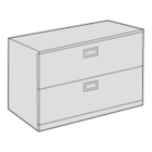 "36"" Wide Two Drawer Lateral File, 21652"