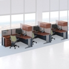 Three-Person L-Desk Workstation Set, CD07510