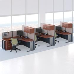 Three-Person L-Desk Workstation Set, 75486