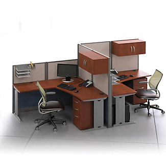 Two Person L Desk Workstation Set 75487 And More Office