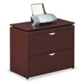 "37""W 2 Drawer Wood Veneer Lateral File, 30848"