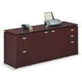 "Wood Veneer Storage and Filing Credenza - 72""W, 36406"