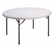 "Lightweight Round Folding Table - 60"" Diameter, 41238"
