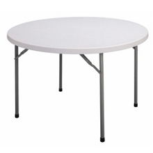 "Lightweight Round Folding Table - 48"" Diameter, 41295"