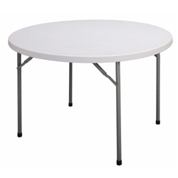 "Lightweight Round Folding Table - 48"" Diameter, 41295"