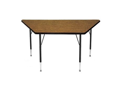 "Adjustable Height Trapezoid Table 60"" x 30"", 41376"
