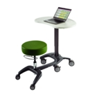 LinkT Deluxe Mobile Workstation with Bean-Shaped Top, 86215
