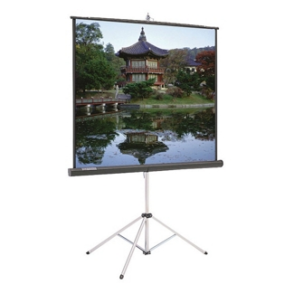 "67"" W x 50"" H Protable Tripod Projection Screen, 43262"
