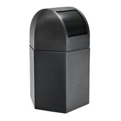 Dome Lid Hexagonal Waste Receptacle - 45 Gallon, 85872