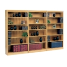 Square Edge Reinforced Bookcase Wall Set, CD04651