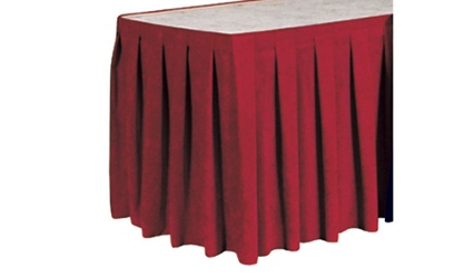 Box Style Table Skirting 15' Long, 82819