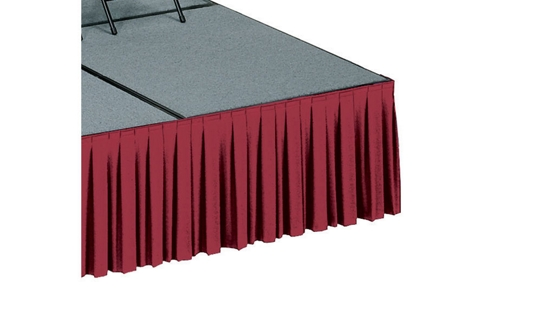 "Stage Skirting with Box-Pleats- 16""H , 80066"