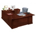 Traditional Executive U-Desk with Right Bridge, 10040