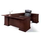 Andover U-Desk with Right Bridge, 11992