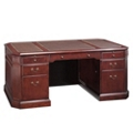 Executive Desk with Leather Inlay Top, 13132