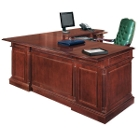 English Cherry Executive L-Desk with Right Return, 15064