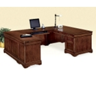Chocolate Patina U-Desk with Left Bridge, 15145