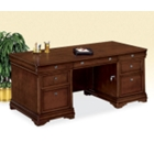 "Chocolate Patina Executive Desk - 72"" x 36"", 15147"