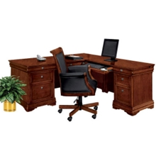 L-Desk with Right Return and Chair, 14305
