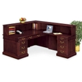 Traditional Reception L-Desk with Right Return, 15206