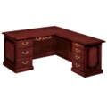 Traditional Executive L-Desk with Right Return, 15209