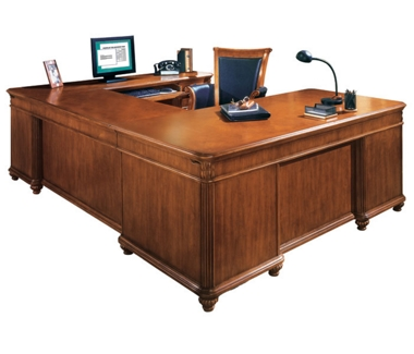 Executive U-Desk with Right Bridge, 15393