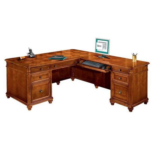 Furniture Gt Office Furniture Gt L Desk Gt Cherry Executive