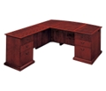L-Shape Bow Front Desk with Left Return, 15421