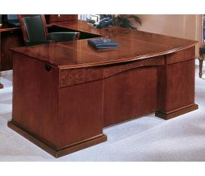 Bow Front U-Shape Desk with Left Return, 15423