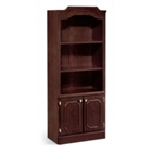 Doored Bookcase with Crown Molding, 32795