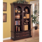 Garnet Cherry Double Bookcase with File Drawer, 32809