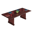 "Traditional Mahogany Rectangular Conference Table - 120"" x 46"", 40566"