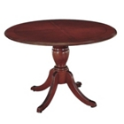 "English Cherry Traditional Round Conference Table - 42"" Diameter, 40618"
