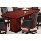 8' Boat Shape Wood Conference Table, 40711